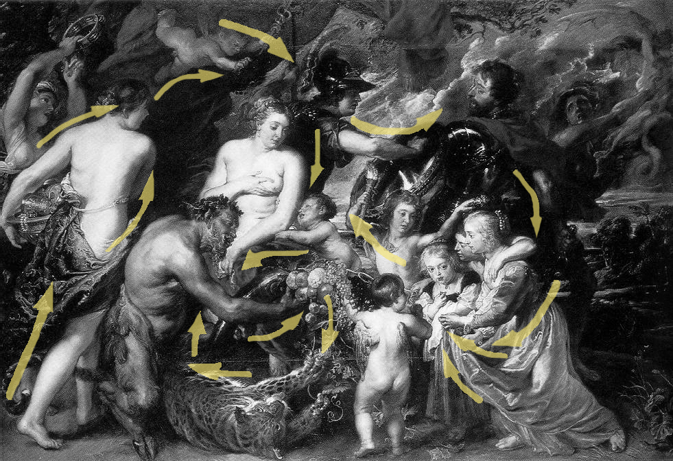 "Rubens ""Allegory"" black and white 1"